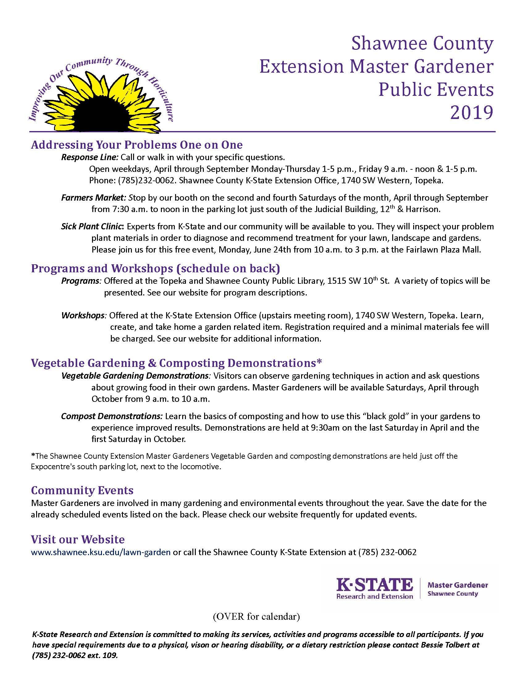 Ksu Calendar 2019 Public Events Calendar