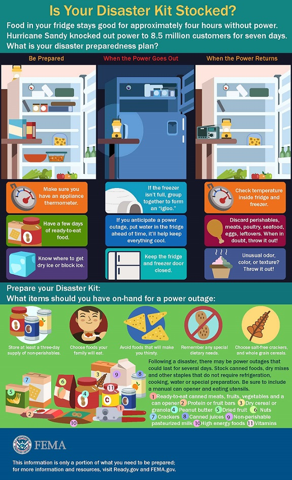 Disaster Kit Food Safety Infographic