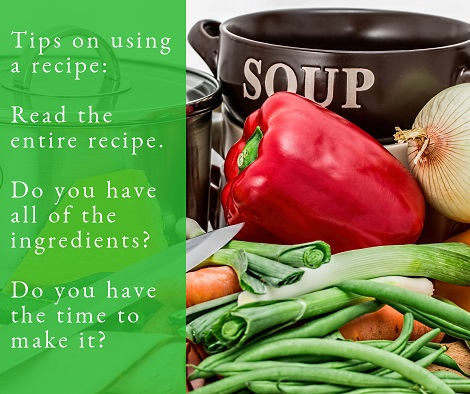 Tips on Using a Recipe