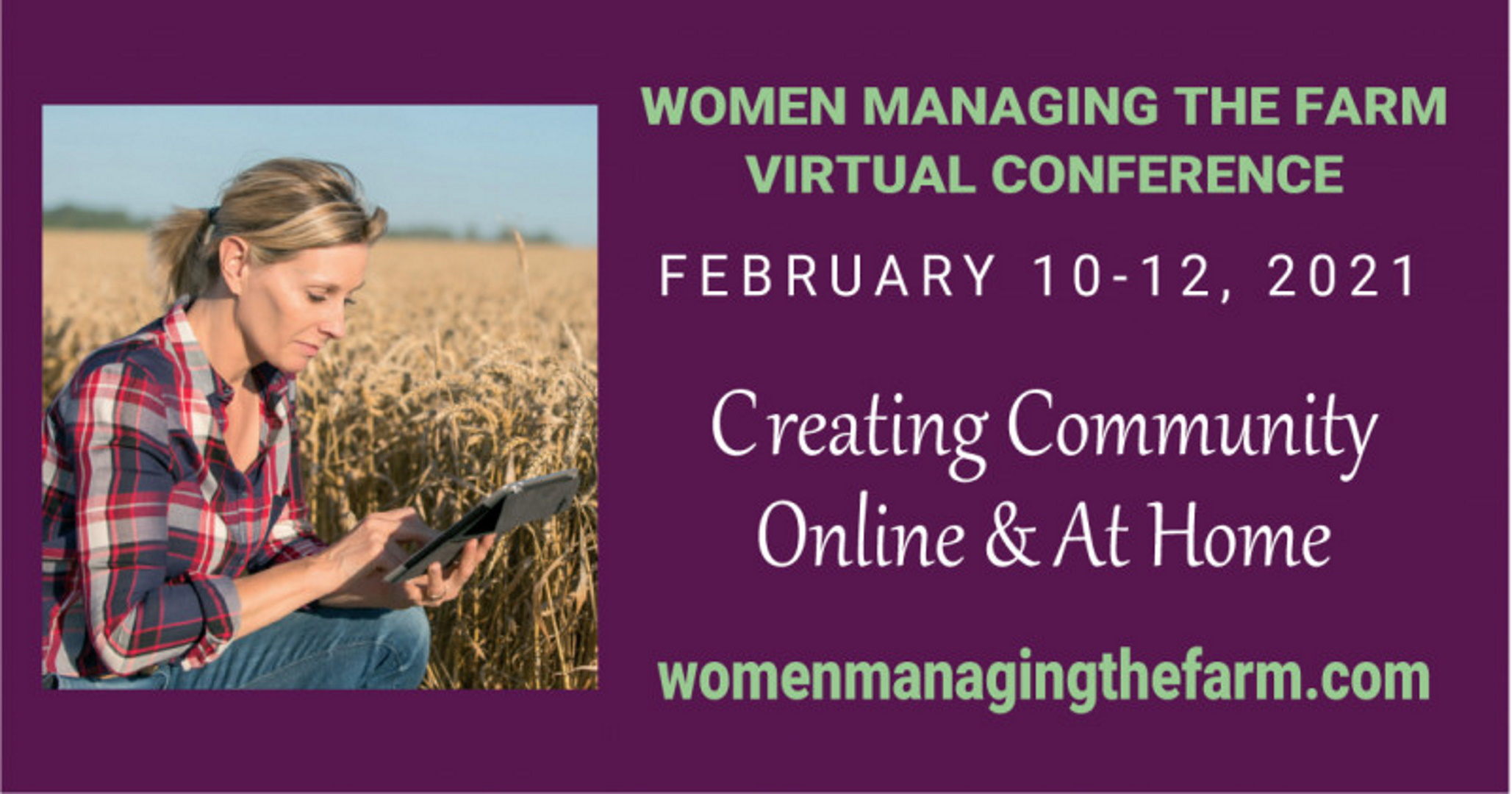 Women Managing the Farm Virtual Conference February 10 - 12, 2021